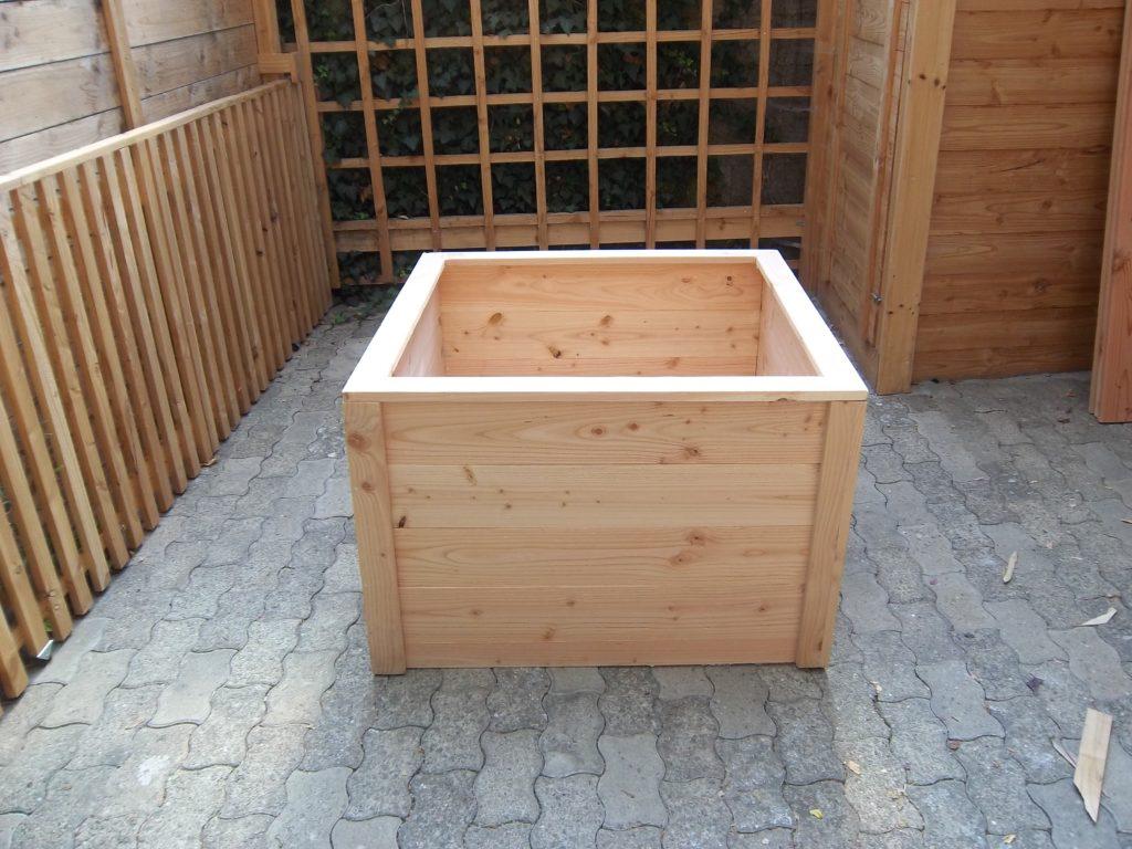 Fabriquer Potager Carré En Bois bac potager carré h.67,5 cm 100x100 en bois - nouvelle gamme, montage par  vis
