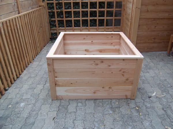 Bac potager carré en bois haut