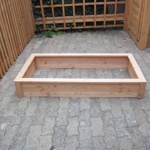 Bac potager rectangle en bois bas