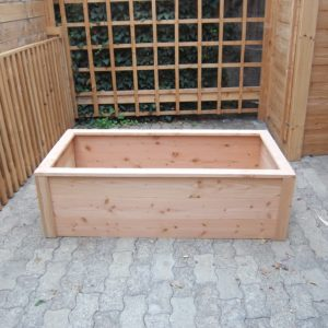 Bac potager rectangle en bois moyen