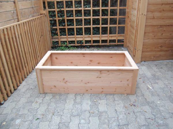 Bac potager rectangle en bois moyen