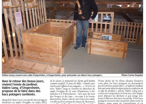 Presse mon bac potager l'Alsace