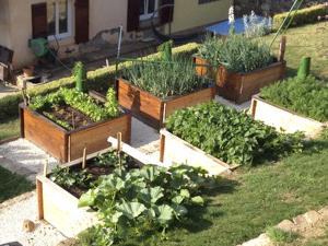 Réalisations bac potager jardin